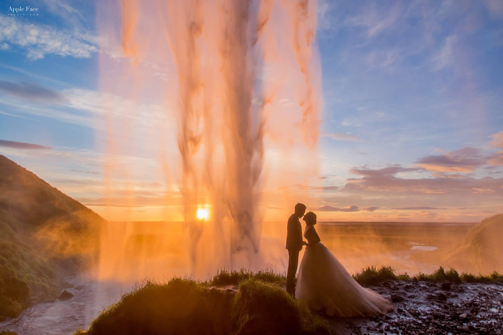 冰島婚紗,極光