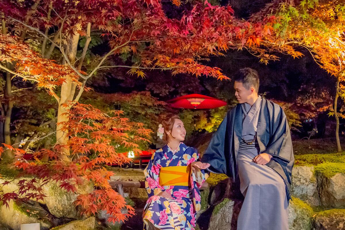 京都楓葉,銀杏,京都婚紗