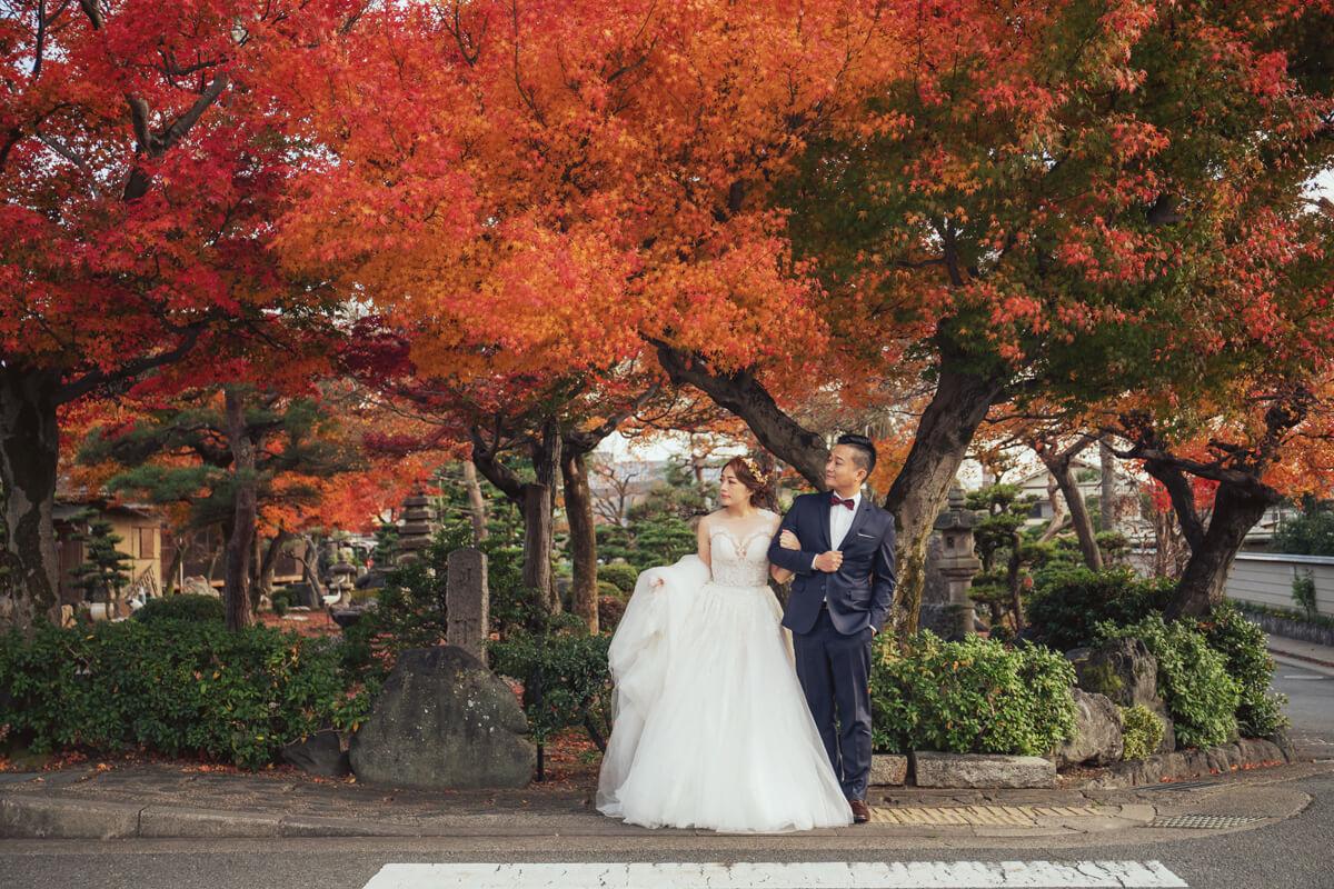 楓葉婚紗,京都婚紗,銀杏婚紗,海外婚紗,婚紗攝影,日本自助