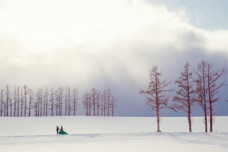 北海道婚紗,小樽婚紗,雪地婚紗,雪之美術館,北海道大學,日本海外婚紗,北海道雪景