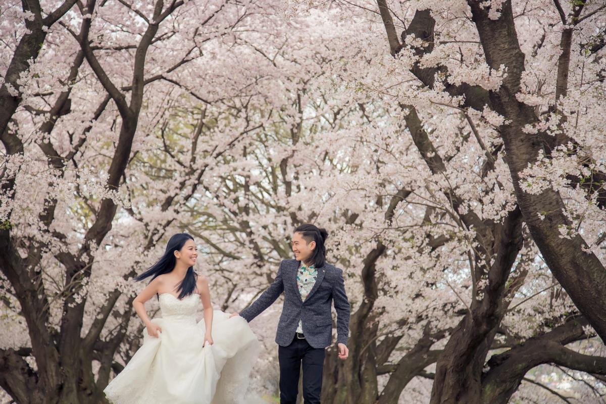 京都婚紗,櫻花婚紗,京都櫻花,海外婚紗