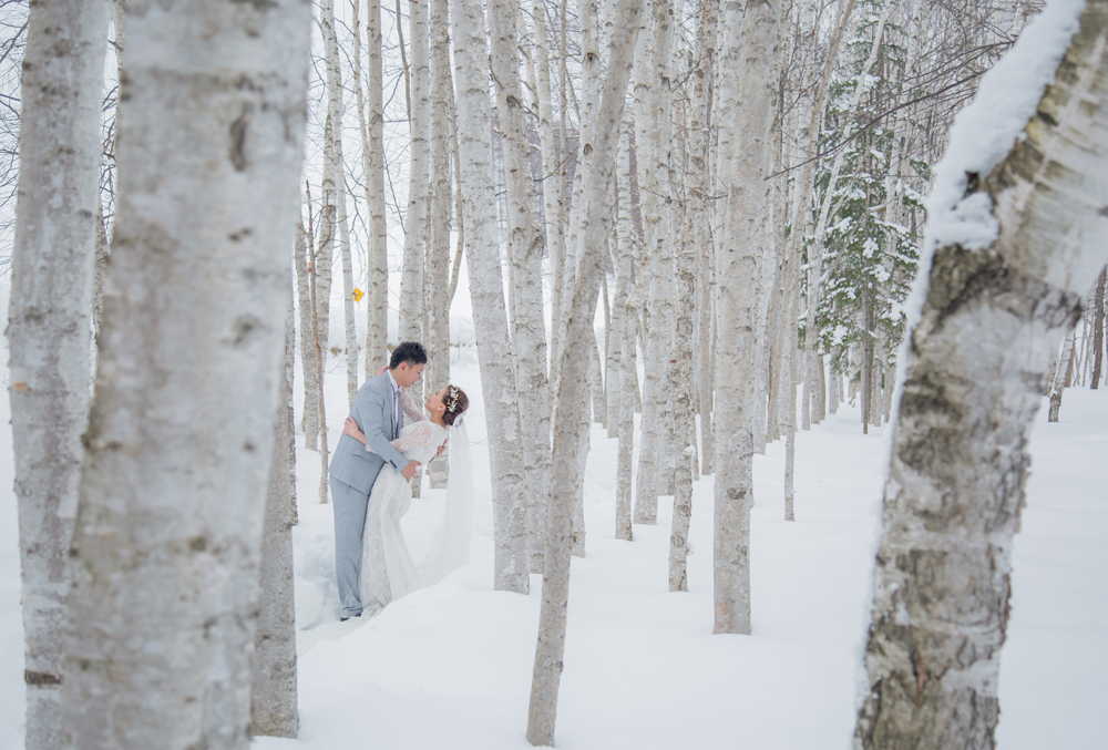 北海道婚紗,雪地婚紗