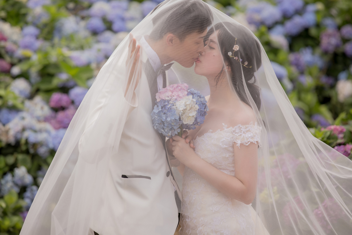自助婚紗,婚紗攝影,台北婚紗,自然婚紗,婚紗推薦,繡球花婚