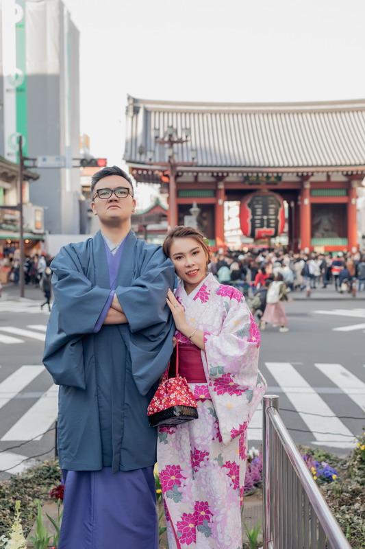 東京婚紗,櫻花婚紗,東京雷門,東京鐵塔,櫻花季,東京晴空塔,東京和服