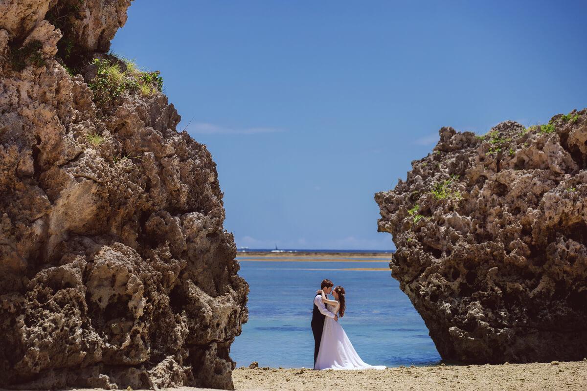 沖繩新原海灘,沖繩婚紗景點,沖繩婚紗,海外婚紗,沖繩美國村,座喜味城跡,沖繩海灘